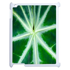 Green Leaf Macro Detail Apple Ipad 2 Case (white) by Nexatart