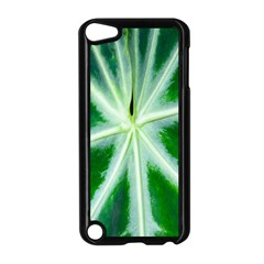 Green Leaf Macro Detail Apple Ipod Touch 5 Case (black) by Nexatart