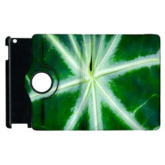 Green Leaf Macro Detail Apple Ipad 3/4 Flip 360 Case