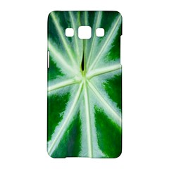 Green Leaf Macro Detail Samsung Galaxy A5 Hardshell Case  by Nexatart