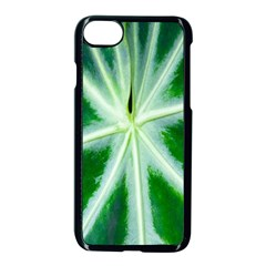 Green Leaf Macro Detail Apple Iphone 7 Seamless Case (black) by Nexatart