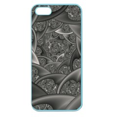 Fractal Black Ribbon Spirals Apple Seamless Iphone 5 Case (color) by Nexatart