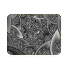Fractal Black Ribbon Spirals Double Sided Flano Blanket (mini)  by Nexatart