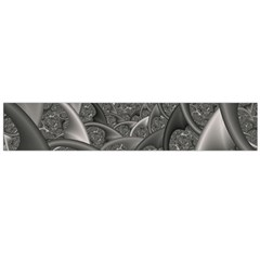 Fractal Black Ribbon Spirals Flano Scarf (large) by Nexatart