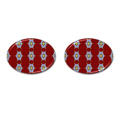 Geometric Seamless Pattern Digital Computer Graphic Cufflinks (oval) by Nexatart