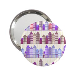 Houses City Pattern 2 25  Handbag Mirrors by Nexatart
