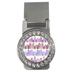 Houses City Pattern Money Clips (cz)  by Nexatart