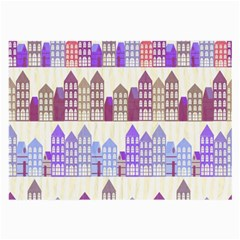 Houses City Pattern Large Glasses Cloth