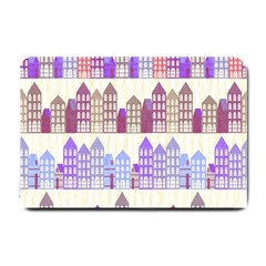 Houses City Pattern Small Doormat