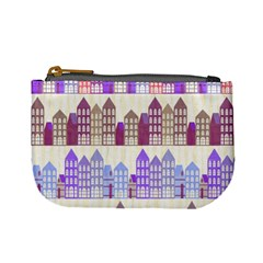 Houses City Pattern Mini Coin Purses by Nexatart