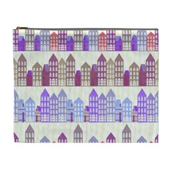 Houses City Pattern Cosmetic Bag (xl)
