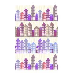 Houses City Pattern Shower Curtain 48  X 72  (small)  by Nexatart