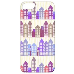 Houses City Pattern Apple Iphone 5 Classic Hardshell Case by Nexatart