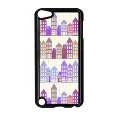 Houses City Pattern Apple Ipod Touch 5 Case (black) by Nexatart
