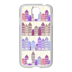 Houses City Pattern Samsung Galaxy S4 I9500/ I9505 Case (white)