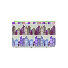 Houses City Pattern Cosmetic Bag (xs) by Nexatart