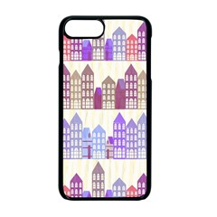 Houses City Pattern Apple Iphone 7 Plus Seamless Case (black)