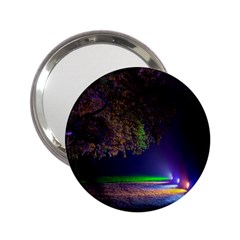 Illuminated Trees At Night 2 25  Handbag Mirrors by Nexatart