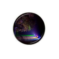 Illuminated Trees At Night Hat Clip Ball Marker (4 Pack) by Nexatart