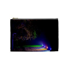 Illuminated Trees At Night Cosmetic Bag (medium)  by Nexatart