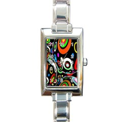 Background Balls Circles Rectangle Italian Charm Watch by Nexatart