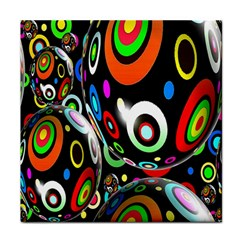 Background Balls Circles Tile Coasters by Nexatart