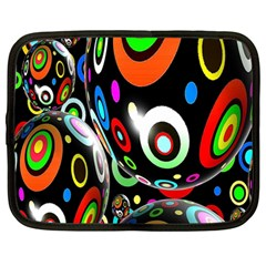 Background Balls Circles Netbook Case (large) by Nexatart