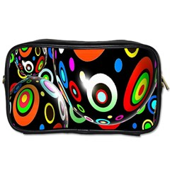 Background Balls Circles Toiletries Bags 2 Side by Nexatart