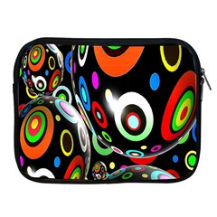 Background Balls Circles Apple Ipad 2/3/4 Zipper Cases