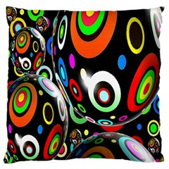 Background Balls Circles Standard Flano Cushion Case (two Sides)