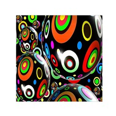 Background Balls Circles Small Satin Scarf (square) by Nexatart