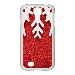Macro Photo Of Snowflake On Red Glittery Paper Samsung Galaxy S4 I9500/ I9505 Case (white)