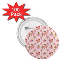 Beautiful Hand Drawn Flowers Pattern 1 75  Buttons (100 Pack)  by TastefulDesigns