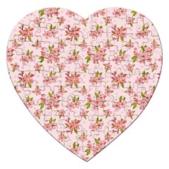 Beautiful Hand Drawn Flowers Pattern Jigsaw Puzzle (heart) by TastefulDesigns