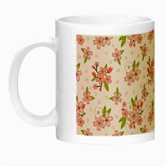 Beautiful Hand Drawn Flowers Pattern Night Luminous Mugs by TastefulDesigns
