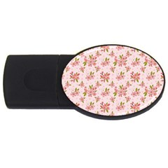 Beautiful Hand Drawn Flowers Pattern Usb Flash Drive Oval (4 Gb) by TastefulDesigns