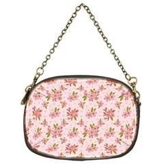 Beautiful Hand Drawn Flowers Pattern Chain Purses (one Side)  by TastefulDesigns