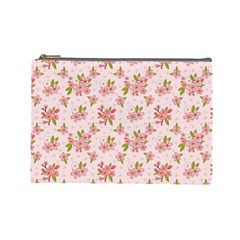 Beautiful Hand Drawn Flowers Pattern Cosmetic Bag (large)