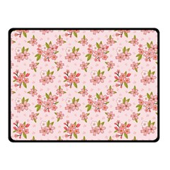 Beautiful Hand Drawn Flowers Pattern Fleece Blanket (small) by TastefulDesigns