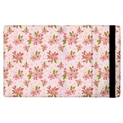 Beautiful Hand Drawn Flowers Pattern Apple Ipad 2 Flip Case by TastefulDesigns