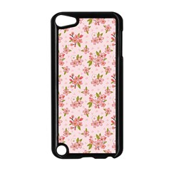 Beautiful Hand Drawn Flowers Pattern Apple Ipod Touch 5 Case (black) by TastefulDesigns