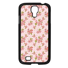 Beautiful Hand Drawn Flowers Pattern Samsung Galaxy S4 I9500/ I9505 Case (black) by TastefulDesigns