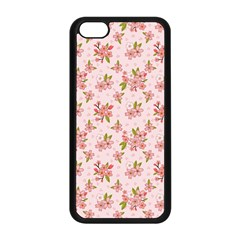 Beautiful Hand Drawn Flowers Pattern Apple Iphone 5c Seamless Case (black) by TastefulDesigns