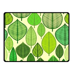 Leaves Pattern Design Double Sided Fleece Blanket (small)  by TastefulDesigns