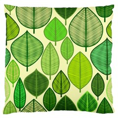 Leaves Pattern Design Large Flano Cushion Case (two Sides) by TastefulDesigns