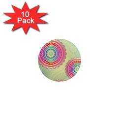 Abstract Geometric Wheels Pattern 1  Mini Magnet (10 Pack)  by LovelyDesigns4U