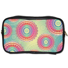 Abstract Geometric Wheels Pattern Toiletries Bags by LovelyDesigns4U