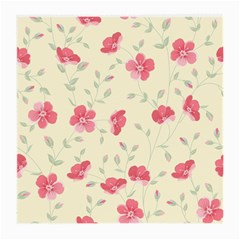 Seamless Flower Pattern Medium Glasses Cloth by TastefulDesigns