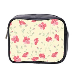 Seamless Flower Pattern Mini Toiletries Bag 2 Side by TastefulDesigns