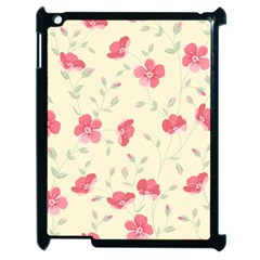 Seamless Flower Pattern Apple Ipad 2 Case (black) by TastefulDesigns